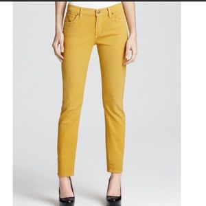 Citizens ofHumanity Thompson mustard yellow skinny